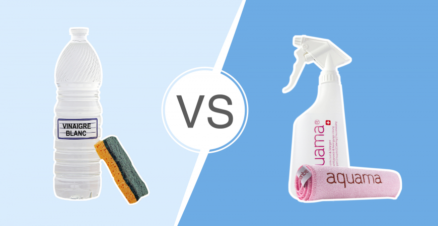 Battle n°1 : aquama®  vs. le vinaigre blanc
